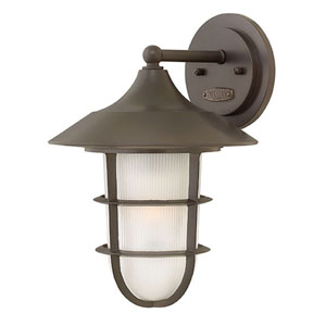 Marina Hematite Two-Light Outdoor 5-Inch Flush Mount