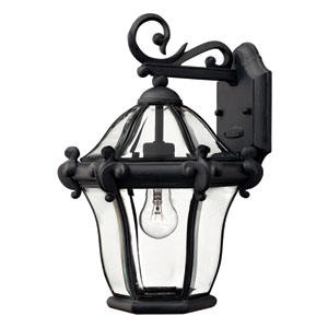San Clemente Museum Black 14.5H Outdoor Wall Mount