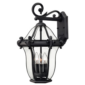 San Clemente Museum Black 21H Outdoor Wall Mount