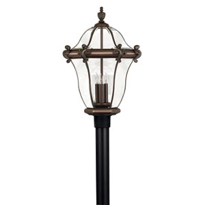 San Clemente Medium Copper Bronze Post Mount