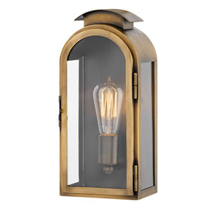 Rowley Light Antique Brass One-Light Outdoor Small Wall Mount
