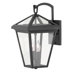 Alford Place Museum Black Two-Light Outdoor Small Wall Mount