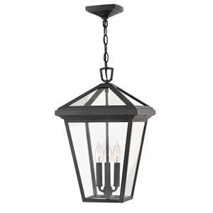 Alford Place Museum Black Three-Light Outdoor Hanging Light