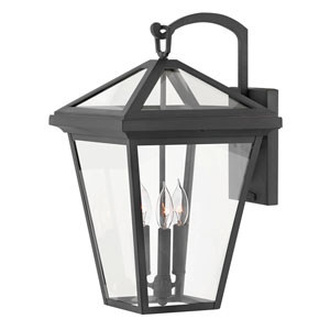 Alford Place Museum Black Three-Light Outdoor Large Wall Mount