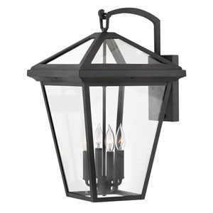 Alford Place Museum Black Four-Light Outdoor Extra Large Wall Mount