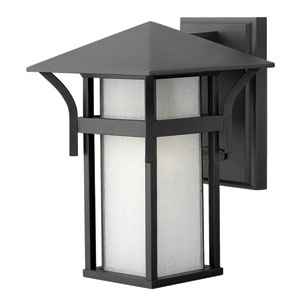 Harbor Satin Black 10.5-Inch One-Light Outdoor Wall Light