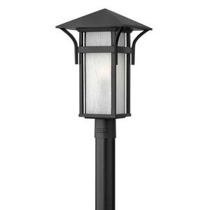 Harbor Satin Black 19.5-Inch One-Light Outdoor Post Mount
