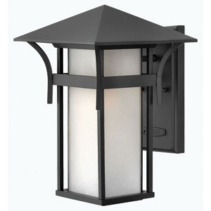 Harbor Satin Black 9-Inch One-Light LED Outdoor Wall Mounted