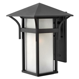 Harbor Satin Black 11-Inch One-Light LED Outdoor Wall Mounted
