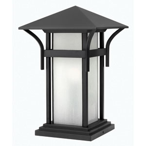 Harbor Satin Black 17-Inch LED One-Light Outdoor Pier Mount