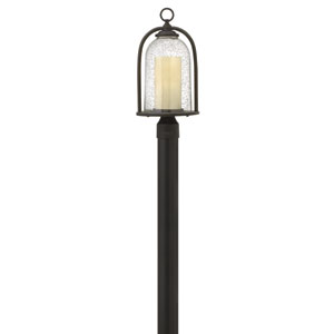 Quincy Oil Rubbed Bronze One-Light LED Outdoor Post Mount