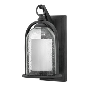 Quincy Aged Zinc 7-Inch One-Light LED Outdoor Wall Mount