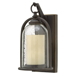 Quincy Oil Rubbed Bronze One-Light Outdoor Wall Mounted