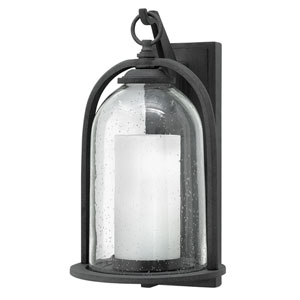 Quincy Aged Zinc 9.5-Inch One-Light LED Outdoor Wall Mount