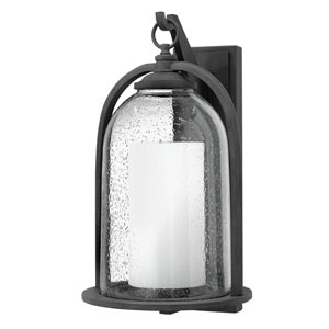 Quincy Aged Zinc 11-Inch One-Light LED Outdoor Wall Mount