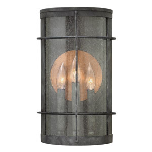 Newport Aged Zinc Three-Light Outdoor Wall Sconce