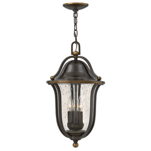 Bolla Olde Bronze Three-Light Outdoor Pendant