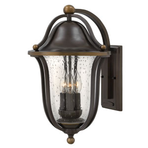 Bolla Olde Bronze Three-Light Outdoor Wall Sconce