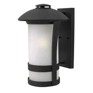 Chandler Black 11-Inch One-Light Outdoor Wall Mounted