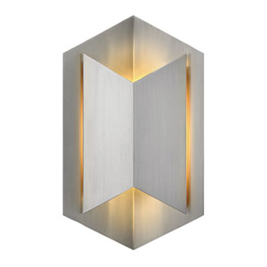 Lex Stainless Steel 15-Inch One-Light Outdoor Wall Sconce