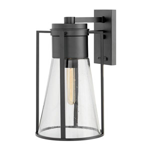 Refinery Black One-Light Outdoor Large Wall Mount