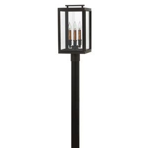 Sutcliffe Oil Rubbed Bronze Three-Light Outdoor Post Mount