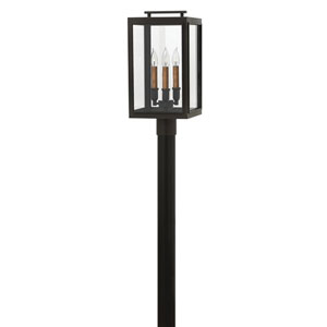 Sutcliffe Oil Rubbed Bronze 10-Inch Three-Light Outdoor LED Post Top and Pier Mount