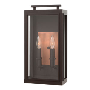 Sutcliffe Oil Rubbed Bronze Two-Light Outdoor Wall Sconce