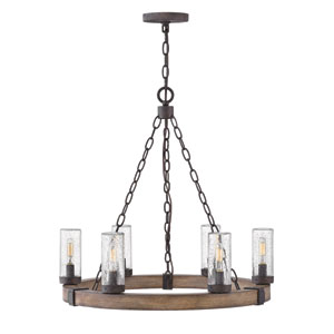 Sawyer Sequoia Six-Light Outdoor Chandelier