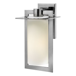 Colfax Polished Stainless Steel 15-Inch One-Light Outdoor Wall Mounted