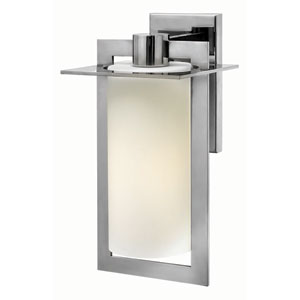 Colfax Polished Stainless Steel 7.5-Inch One-Light Outdoor Wall Mounted
