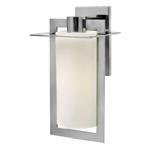 Colfax Polished Stainless Steel 19-Inch One-Light Outdoor Wall Mounted