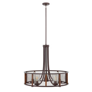 Beckett Iron Rust 30-Inch Five-Light Outdoor Pendant