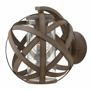 Carson Vintage Iron One-Light Outdoor 10.5-Inch Small Wall Mount