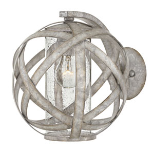 Carson Weathered Zinc Outdoor Wall Mount