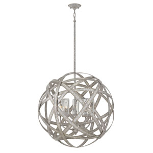 Carson Weathered Zinc Five-Light Outdoor Pendant