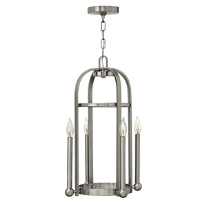 Landon Brushed Nickel Four-Light Pendant