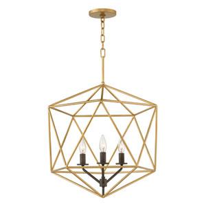 Astrid Deluxe Gold Three-Light Pendant