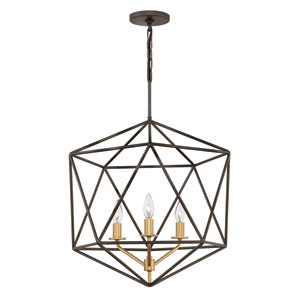Astrid Metallic Matte Bronze Three-Light Pendant