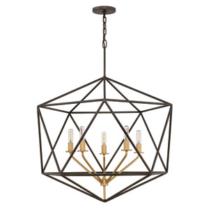 Astrid Metallic Matte Bronze Six-Light Pendant