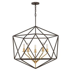 Astrid Metallic Matte Bronze Six-Light Pendant