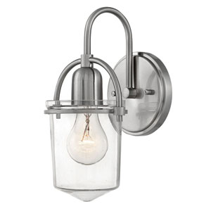 Clancy Brushed Nickel Bath Sconce
