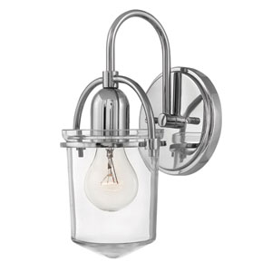 Clancy Polished Nickel Bath Sconce
