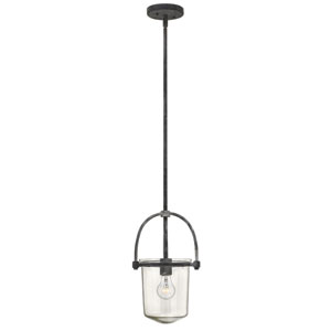 Clancy Aged Zinc One-Light Foyer Pendant
