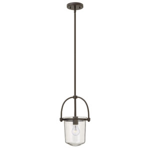 Clancy Buckeye Bronze One-Light Foyer Pendant