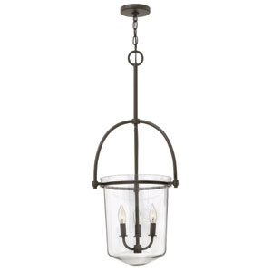 Clancy Buckeye Bronze Three Light Foyer Pendant