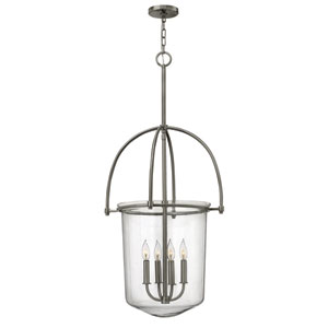 Clancy Brushed Nickel Four Light Foyer Pendant