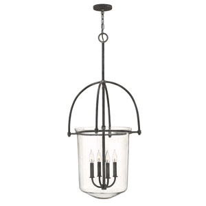 Clancy Aged Zinc Four Light Foyer Pendant