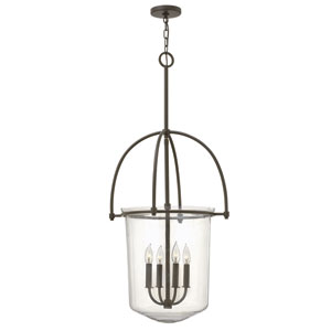 Clancy Buckeye Bronze Four Light Foyer Pendant