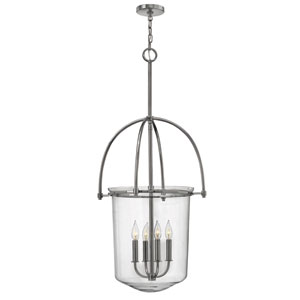 Clancy Polished Nickel Four Light Foyer Pendant